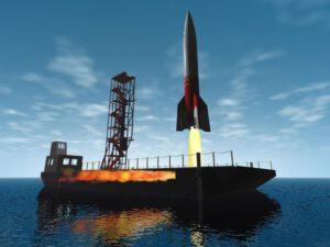 """Firma časem plánovala vybudování """"plovoucího kosmodromu""""."""
