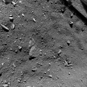 Snímek z kamery ROLIS pořízený zhruba z výšky 9 metrů nad jádrem - rozlišení 0,95 cm / pixel.