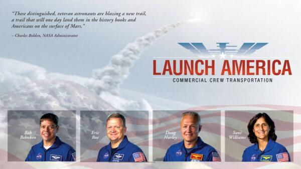 Čtveřice astronautů určený pro lety v soukromých lodích