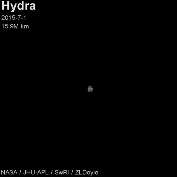 Měsíc Hydra -  fotka z 1. července. Autor: ZL Doyle