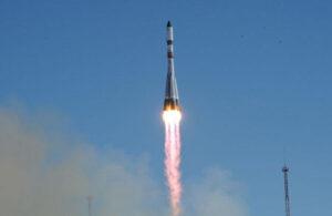 Start zásobovací lodi Progress M-28 na raketě Sojuz-U