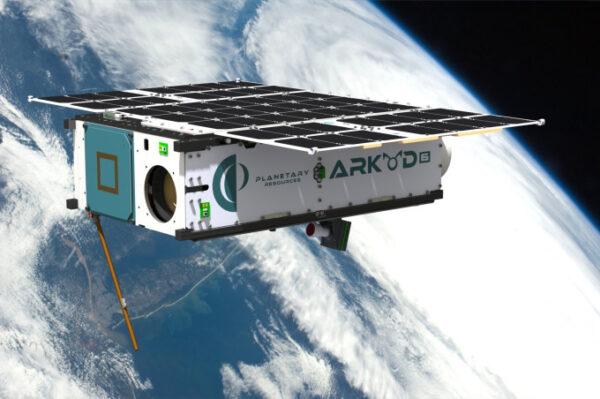 Počítačová vizualizace satelitu Arkyd-6 (A6)