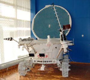 Model Lunochodu 2 v životní velikosti