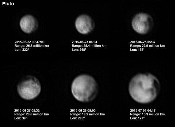 Zvětšující se Pluto