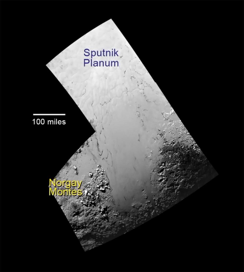 Okolí lokality Sputnik Planum