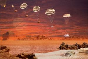 Sestup modulu Huygens na povrch Titanu