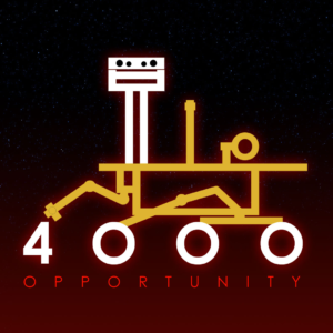 logo k 4000 solům Opportunity na Marsu. Autor: Glen Nagle