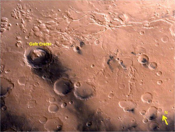 Kráter Gale. ISRO/MOM