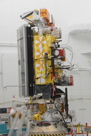 Sonda NOAA-N Prime krátce před startem na kosmodromu Vandenberg
