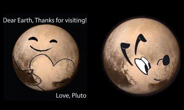 Někomu lokalita Tombaugh regio připomíná srdce, jinému zase hlavu psa (Pluta)