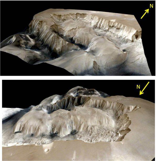 Ophir Chasma 3D. ISRO/MOM