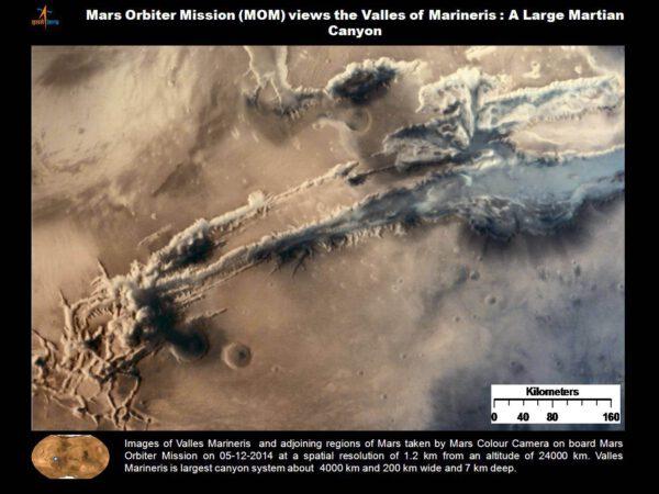 Valles Marineris. ISRO/MOM