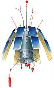 Družice Interkosmos 17, na které letěl prototyp stabilizované plošiny