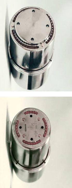 Na horním obrázku je původní design senzoru - dole pak vylepšená verze s prvky ochrany proti špatné instalaci. Ani to ale někdy nestačí.