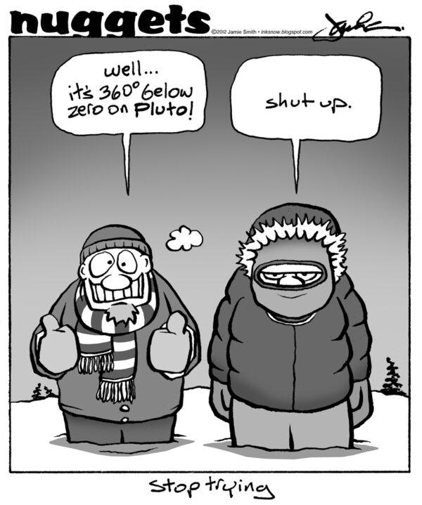 Vnímání chladu je značně relativní.