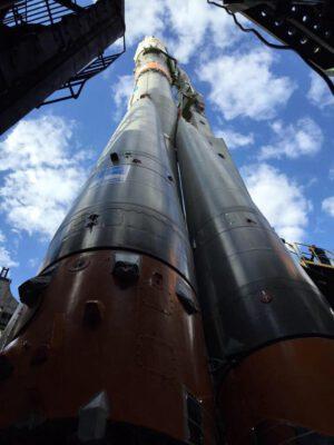 Raketa Sojuz FG, která vynese loď Sojuz TMA-18M