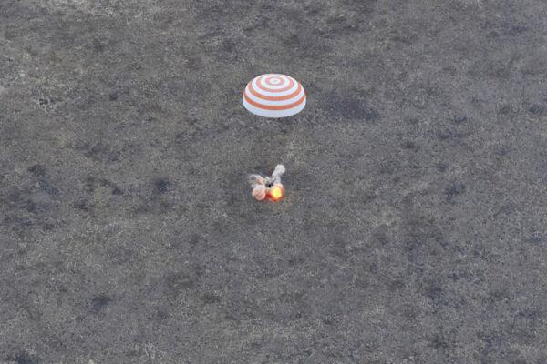 Přistání Sojuzu TMA-16M