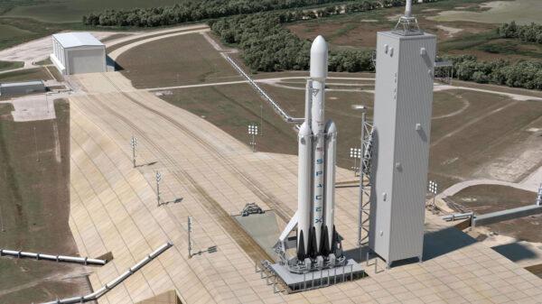 Falcon Heavy na rampě 39A
