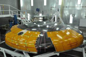 Nová verze tepelného štítu lodi Orion