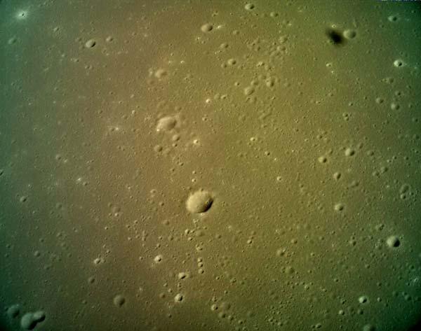 Fotografie plánovaného místa přistání na Měsíci.