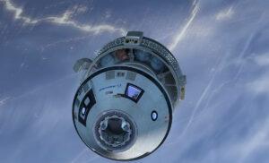 Vizualizace oddělení návratového a servisního modulu lodi CST-100
