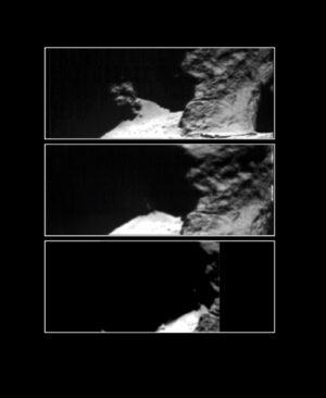 Snímky sledované oblasti pojmenované Hapi