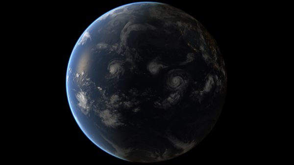 Země a tři hurikány