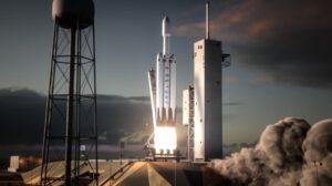 Falcon Heavy při startu