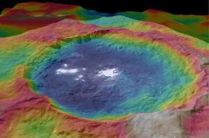 Topografická mapa kráteru Occator