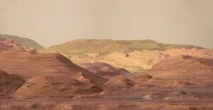 Sol 1100 část panoramatu Aeolis Mons, zdroj: NASA/JPL/MSSS