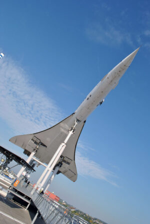 Concorde z podhledu