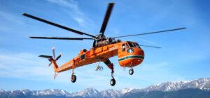 K vynesení DragonFly do výšky a následnému shození by se měl použít vrtulník Erickson, nebo podobný typ.