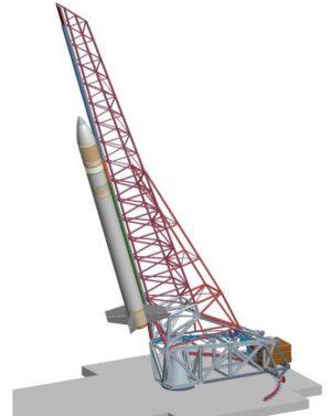 Vypouštěcí konstrukce pro raketu SPARK