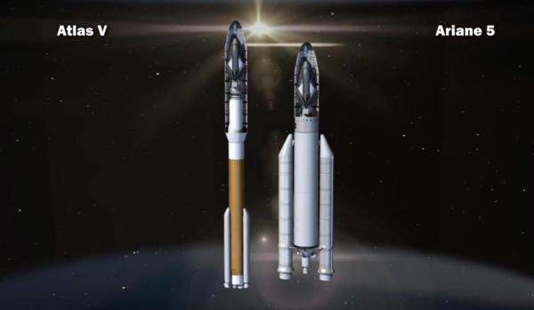 Umístění Dream Chaseru pod kryt Ariane 5