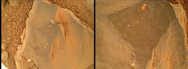 Sol 472 - kamera MAHLI obhlíží kameny na povrchu