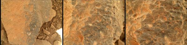 Sol 503 - Kamera MAHLI provedla blízké zkoumání kamenů těsně před vozítkem