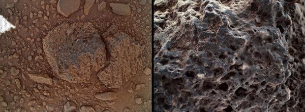 Sol 506 - Kamera MAHLI pomohla prozkoumat kámen s pórovitým povrchem