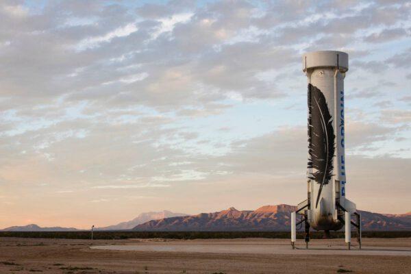 Pohonná sekce New Shepard po přistání 24. listopadu.
