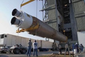 Ilustrační snímek - první stupeň rakety Atlas V