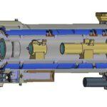 Mastcam-Z: CAD model v řezu