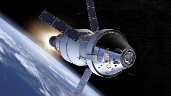Orion s jinou tepelnou ochranou, která mu dává metalický vzhled
