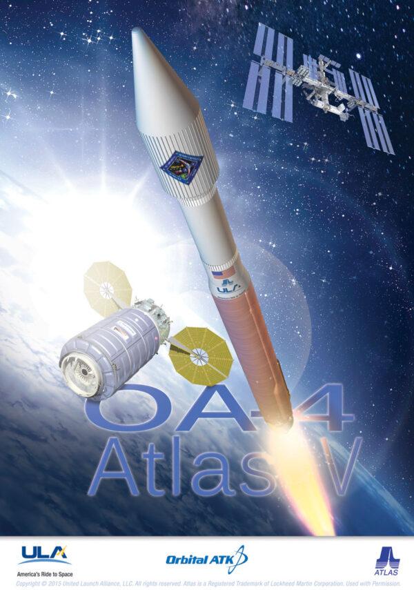 Plakát ke čtvrtému zásobovacímu letu lodi Cygnus k ISS