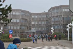Budova A - asi nejikoničtější část ESTECu.