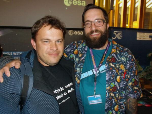 Redaktor našeho portálu - Ondřej Šamárek na společné fotce s Mattem Taylorem