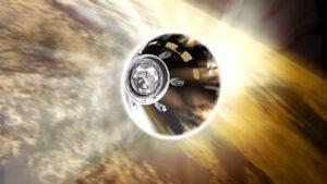 Orion při vstupu do atmosféry