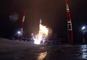 Start Sojuzu 2.1 s armádním satelitem