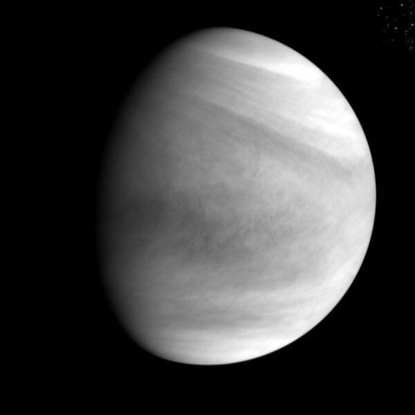 Ultrafialový snímek Venuše ze sondy Akatsuki