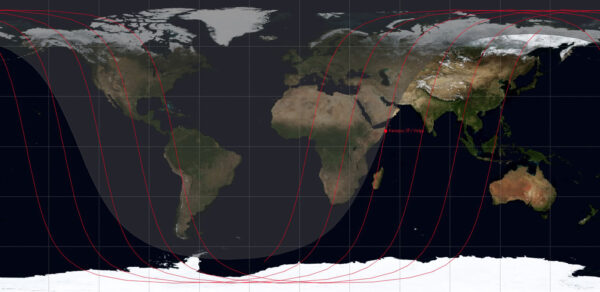 Oběžná dráha satelitu Kanopus ST a horního stupně Volga