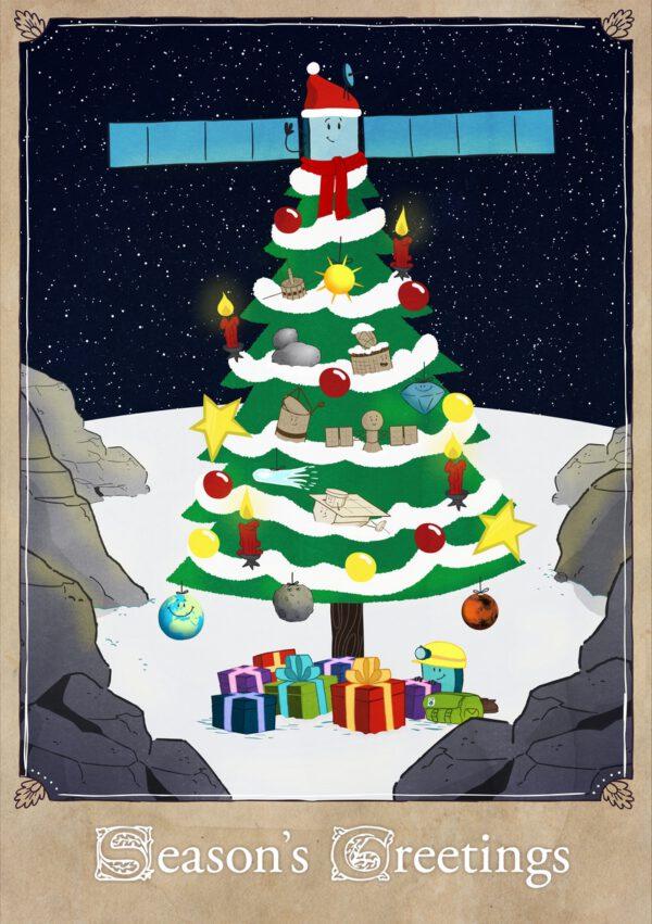 Rosetta a Philae vám přejí hezké Vánoce