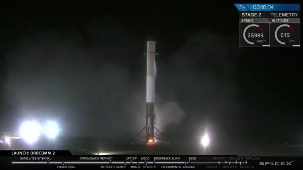Vítej zpět na Floridě, první stupni Falconu 9. Zdroj: SpaceX